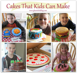 collages of cakes that kids can make