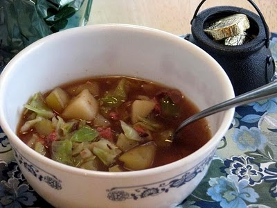 cabbage and corned bee soup