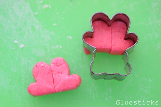 starburst candies cut out using mini cookie cutter