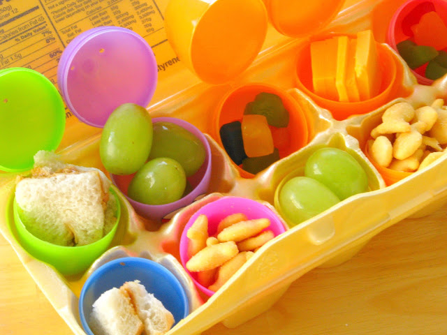 Make your kids lunch into an Easter Egg Lunch Hunt! They'll have a blast opening each egg to see what surprise awaits them! Lunchtime has never been so fun!