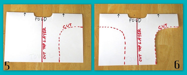 diagram showing how to cut under arms