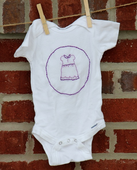 baby dress embroidered onesie