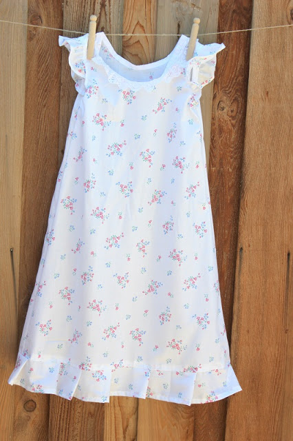 ruffle nightgown for girls