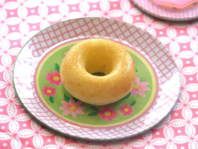 mini donut on tea party plate