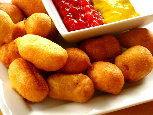 This mini corn dog recipe is perfect for little kids to dip into their favorite sauce. They are also great as an appetizer for game day or a kids birthday party.