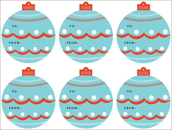 free ornament christmas gift tags