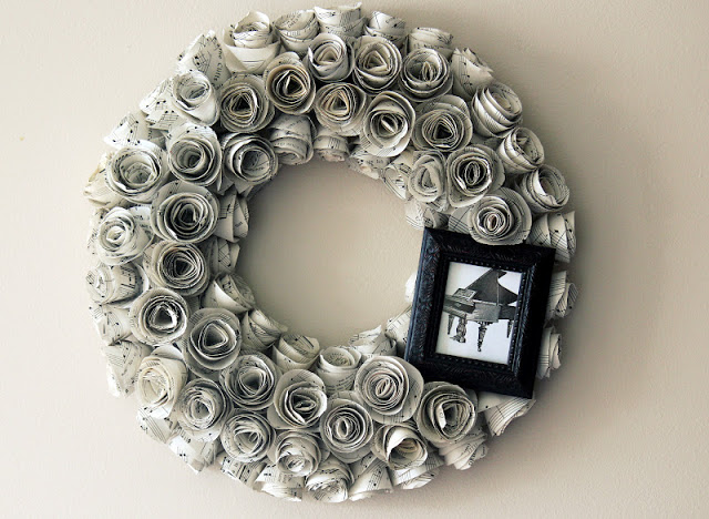 wreath hanging on wall