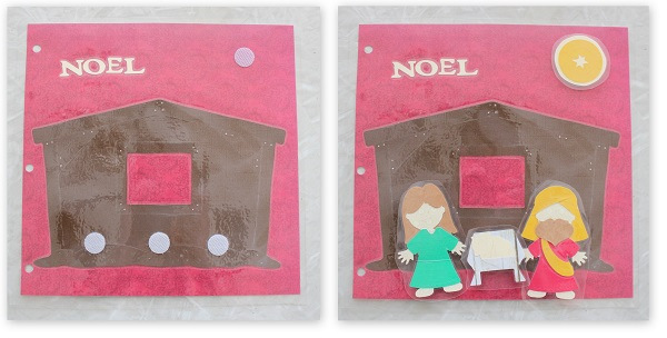 nativity busy book page