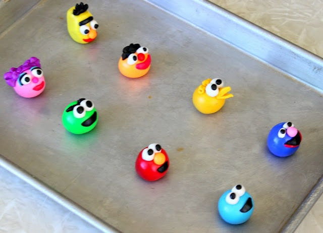 Sesame Street polymer characters on pan