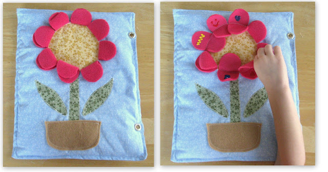 flower petal quiet book page