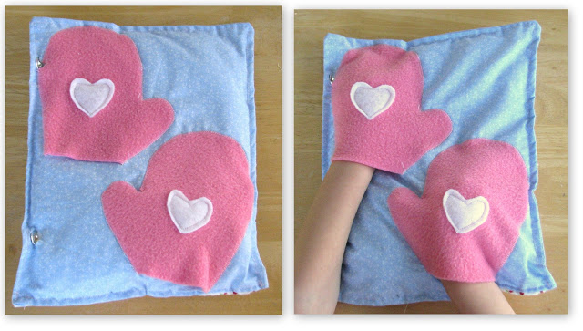 toddler hands in mittens page