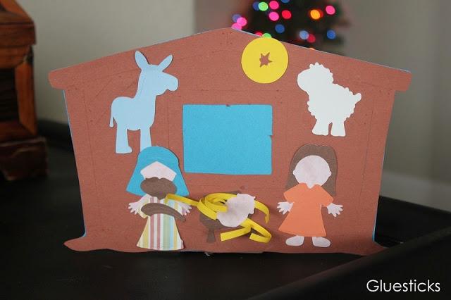 construction paper nativity scene cutouts