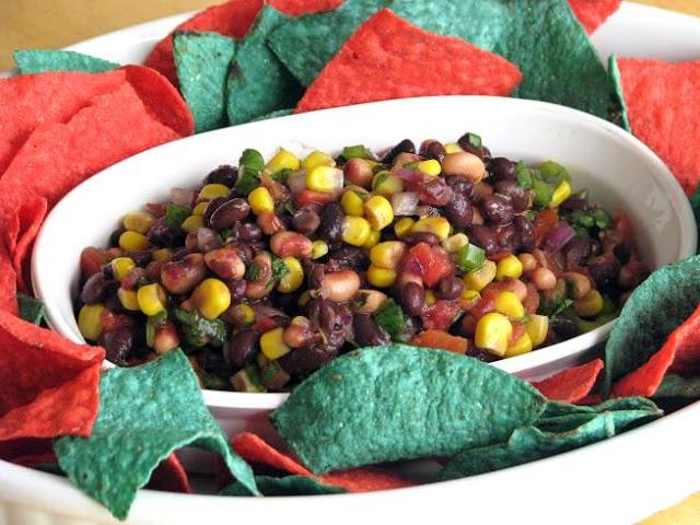 platter of corn salsa
