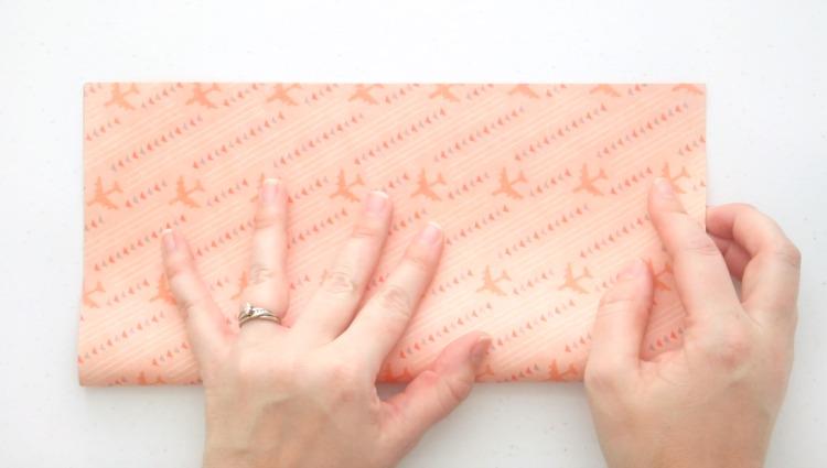 scrapbook paper folded in half