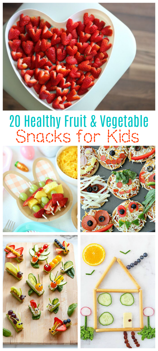 healthy fruit and vegetable snacks for kids