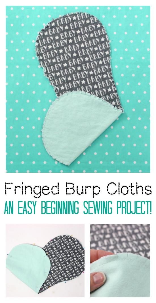 fringed burp cloth flannel