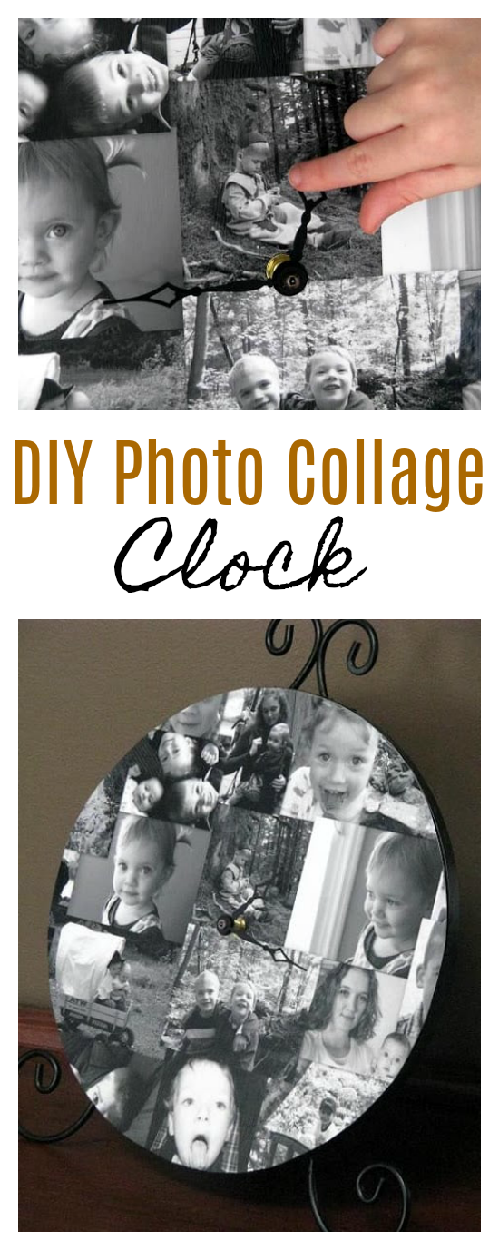 how to make a photo collage clock