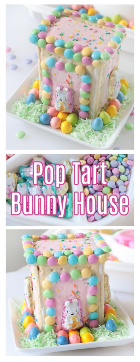 pop tart bunny houses on white plates