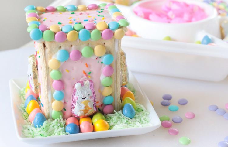 pop tart bunny house. on white plate