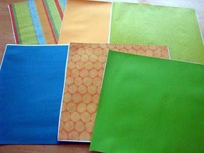 scrapbook paper wall decals