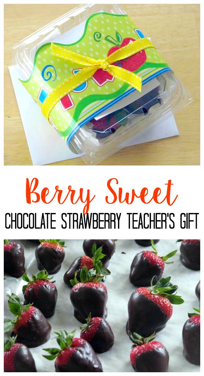 chocolate strawberries teacher gift idea