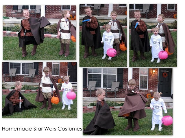 star wars costumes anakin obi wan and leia