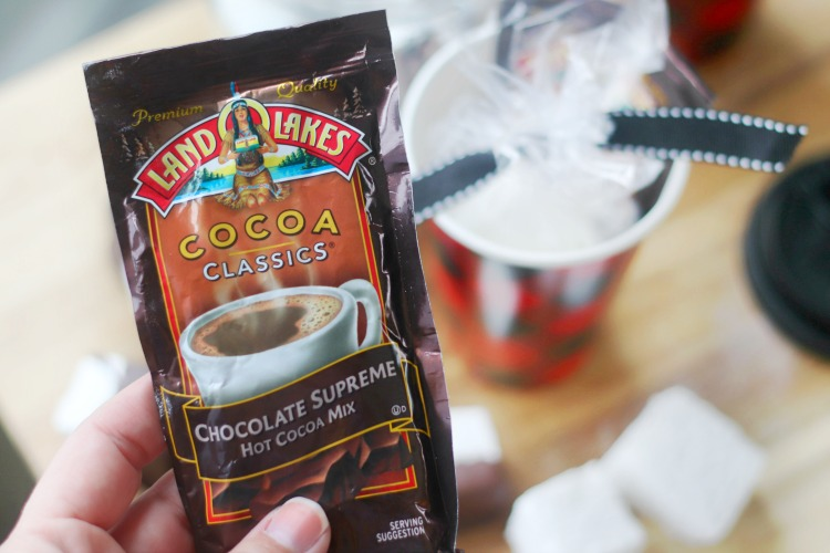 hot chocolate packet
