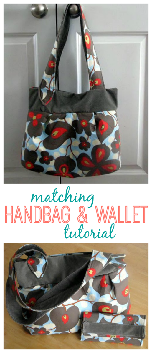 Can't find the perfect handbag or wallet? Make your own! An easy to follow handbag tutorial with plenty of room to hold everything you might need AND a wallet tutorial too! Make both in coordinating fabrics for a matching set.