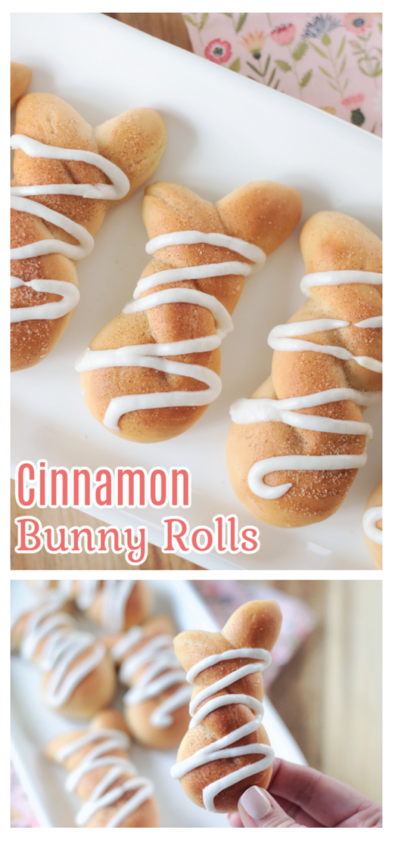 bunny rolls on a white plate