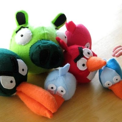 felt pig and angry birds