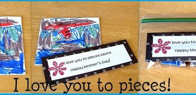 i love you to pieces blank puzzles colored by kids for dad
