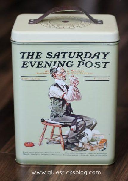 Saturday Evening Post themed Tin