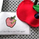 felt apple and worm with printable apple book