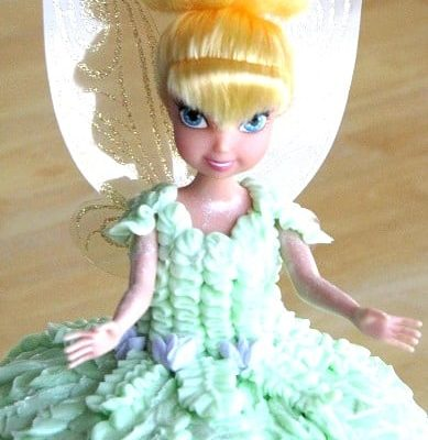 tinkerbell cake with doll inside