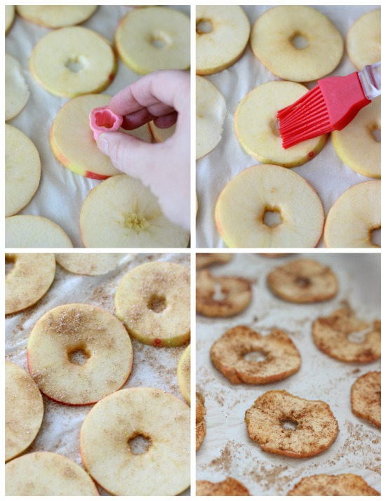 A delicious and healthy treat! Baked apple chips are easy to make and perfect for an after school snack.