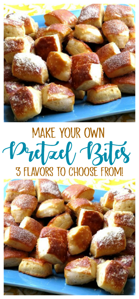 Make your own soft pretzels with our pretzel bites recipe that are just like the ones at the mall, only better because you can create your own flavor variations!