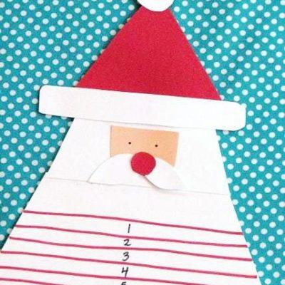 paper santa face