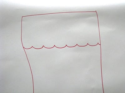 hand drawn stocking pattern
