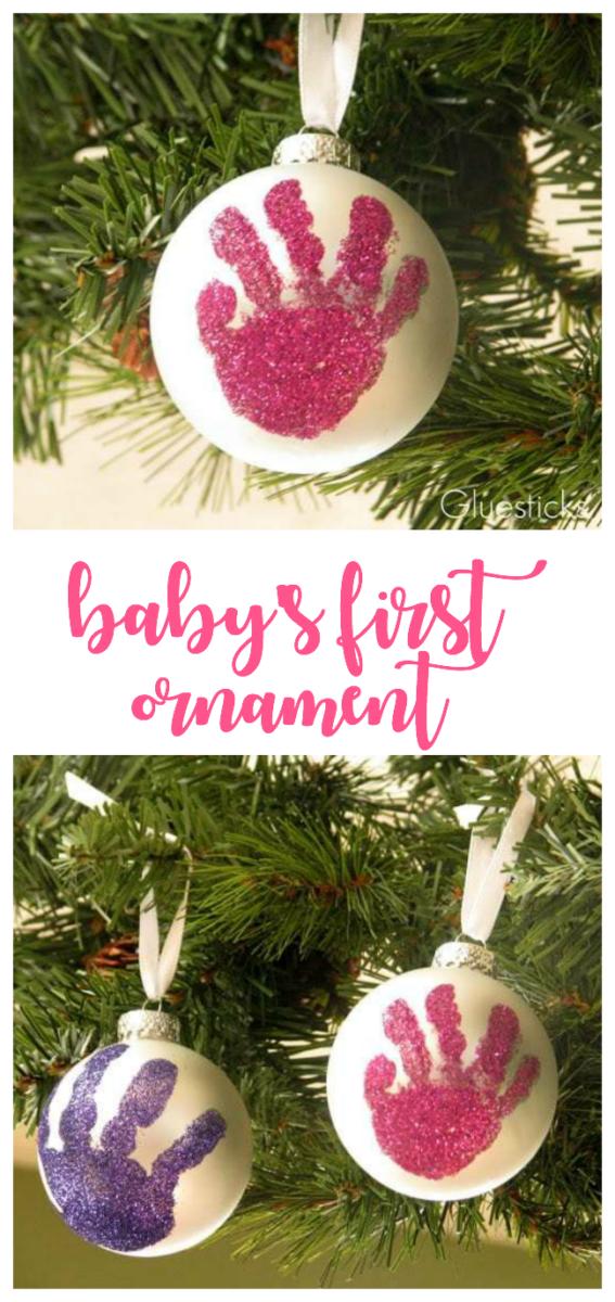 handprint ornament on tree