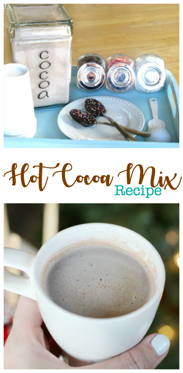 assembled hot cocoa serving tray