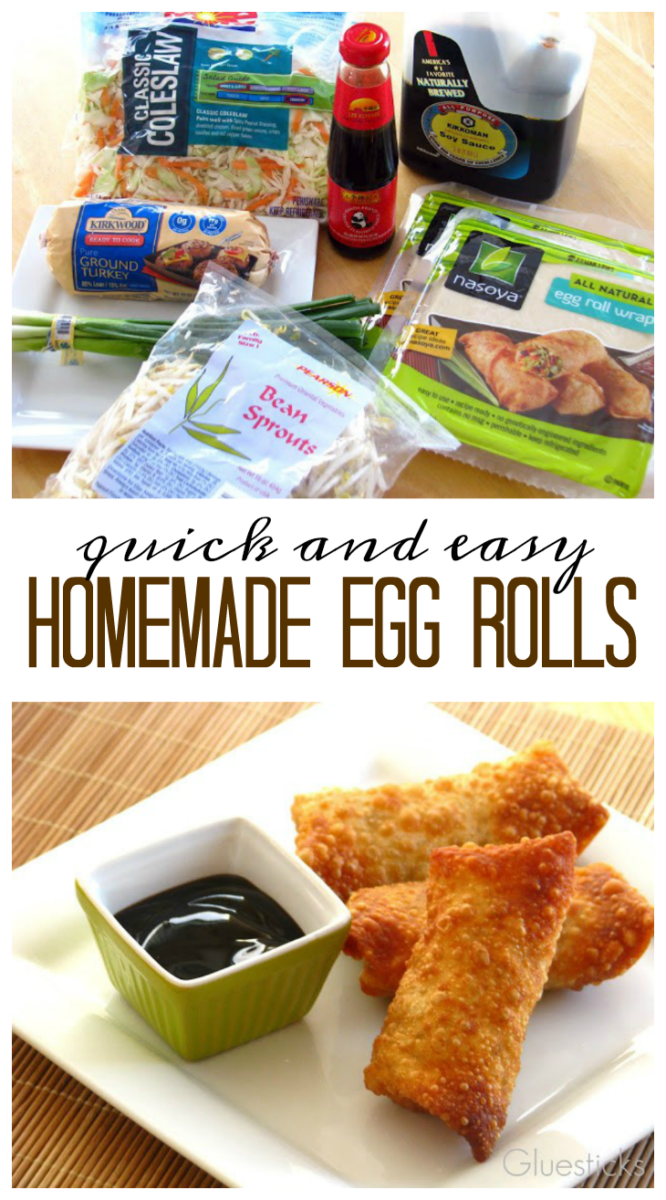 This egg roll recipe is quick and easy with my shortcut tips for making the perfect egg rolls!