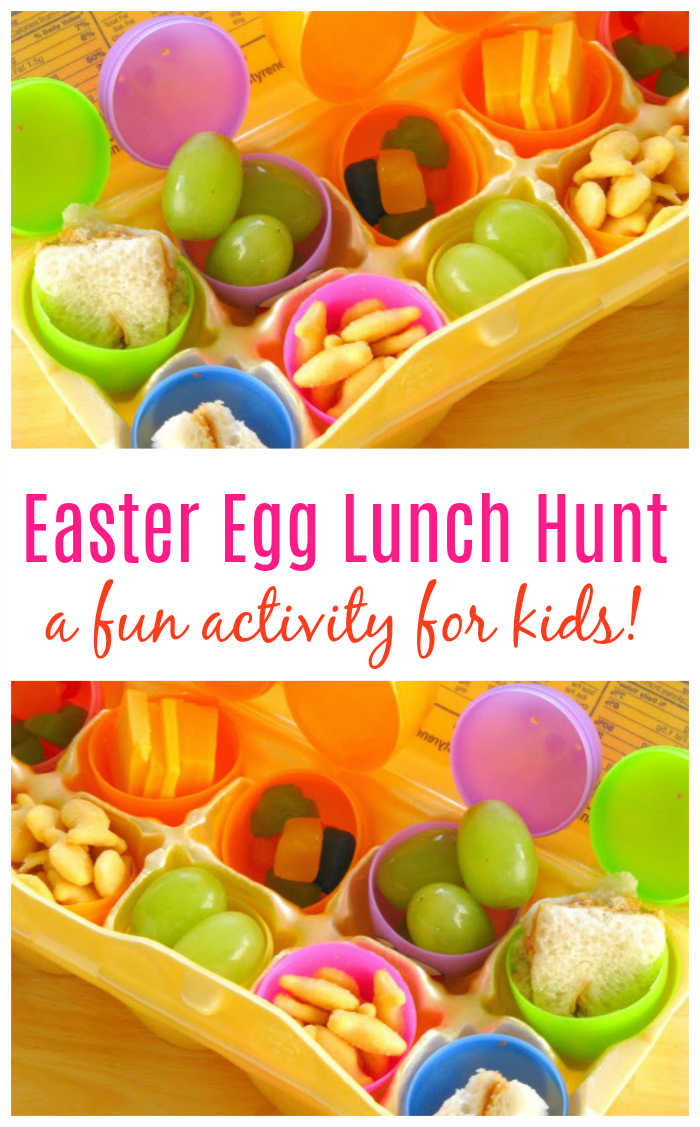Make your kids' lunch into an Easter Egg Lunch Hunt! They'll have a blast opening each egg to see what surprise awaits them! Lunchtime has never been so fun!