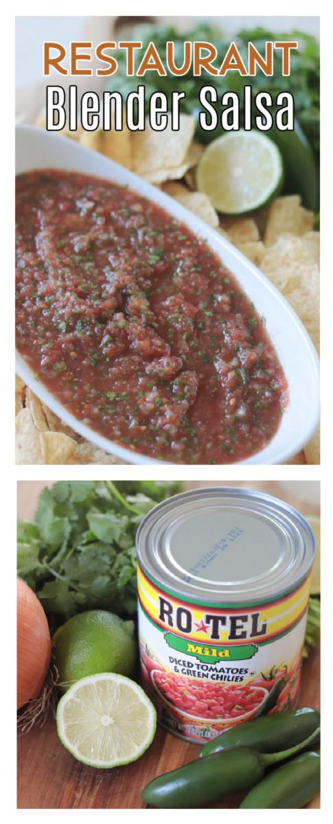 bowl of blender salsa
