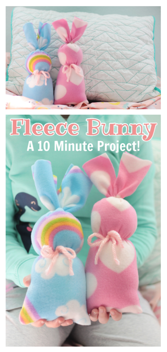 two fleece bunnies