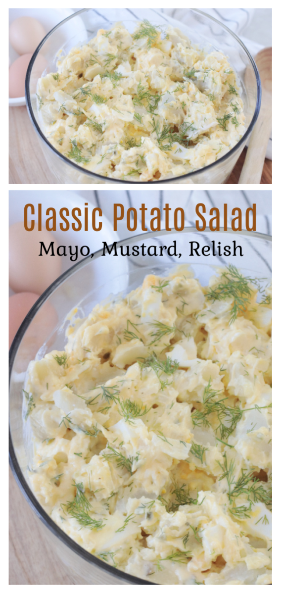 bowl of classic potato salad