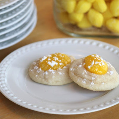 lemon bar cookies on plate