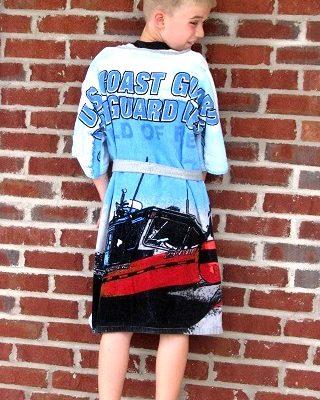 boy modeling robe