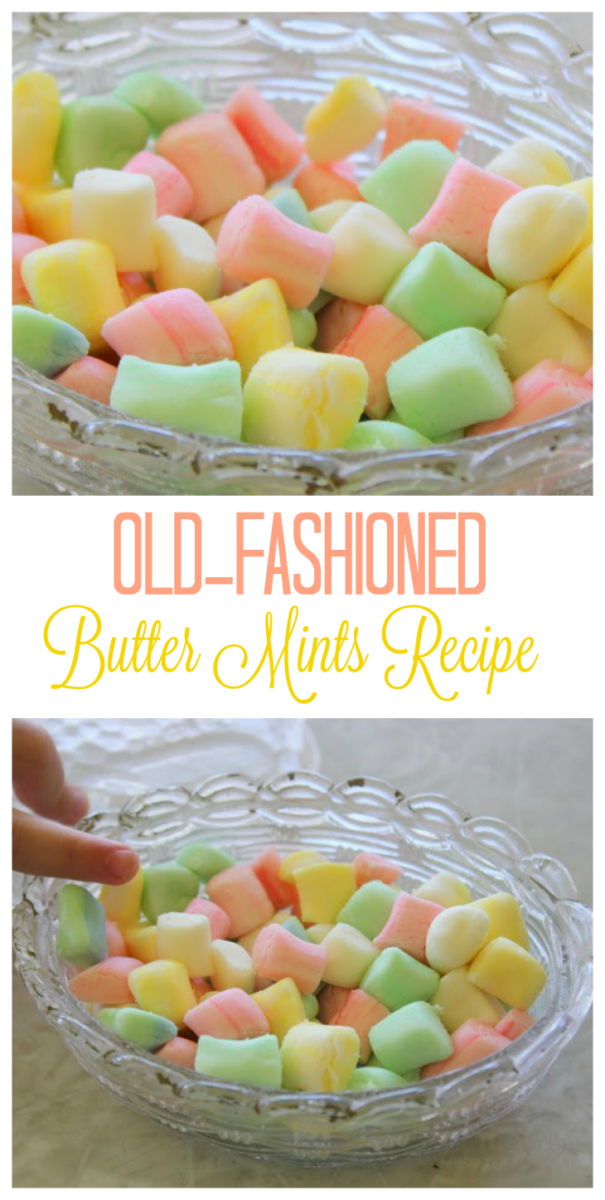 Use this old-fashioned butter mints recipe to make your own delicious mints for weddings, showers or parties! Beautiful pastel colors and deliciously minty!