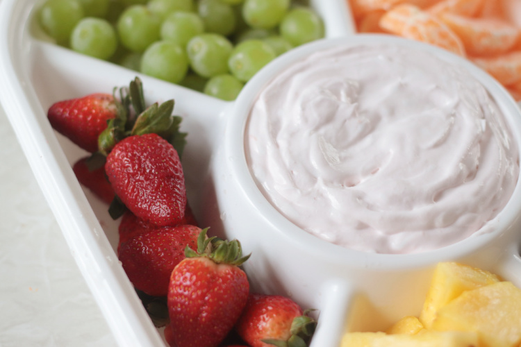 fresh strawberries and fruit dip