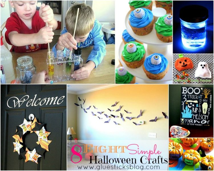 easy halloween craf collaget